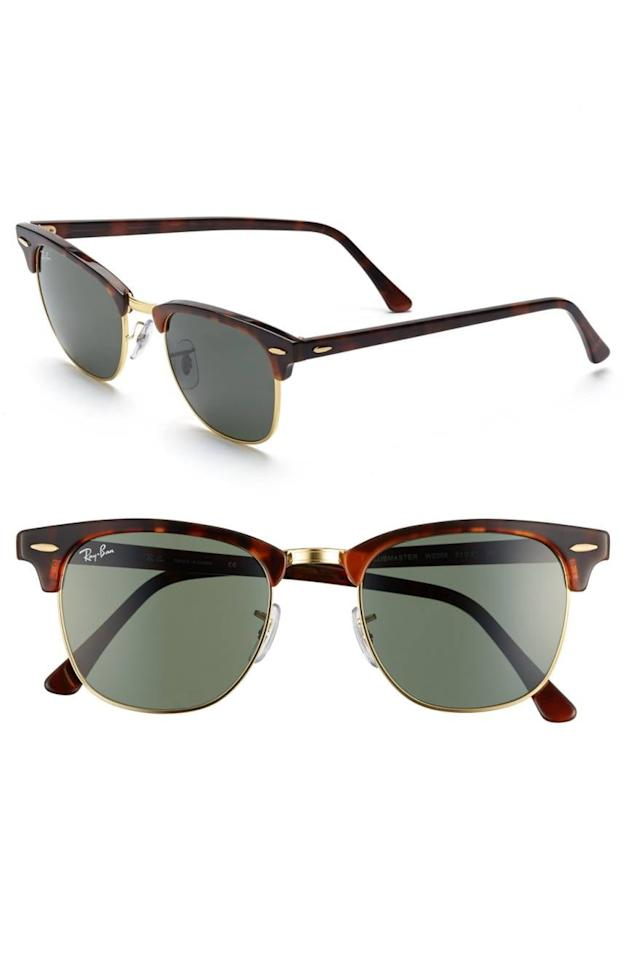 "<p>The father in your life makes you smile so bright, he'll need to wear the <a href=""https://www.popsugar.com/buy/Ray-Ban-Classic-Clubmaster-51mm-Sunglasses-333160?p_name=Ray-Ban%20Classic%20Clubmaster%2051mm%20Sunglasses&retailer=shop.nordstrom.com&pid=333160&price=153&evar1=moms%3Aus&evar9=23413518&evar98=https%3A%2F%2Fwww.popsugar.com%2Ffamily%2Fphoto-gallery%2F23413518%2Fimage%2F43606830%2FRay-Ban-Classic-Clubmaster-51mm-Sunglasses&list1=gift%20guide%2Csummer%2Cfathers%20day%2Cfathers%20day%20gift%20guide&prop13=mobile&pdata=1"" rel=""nofollow"" data-shoppable-link=""1"" target=""_blank"" class=""ga-track"" data-ga-category=""Related"" data-ga-label=""https://shop.nordstrom.com/s/ray-ban-classic-clubmaster-51mm-sunglasses/3142275?origin=category-personalizedsort&amp;fashioncolor=DARK%20TORTOISE%2F%20GREEN"" data-ga-action=""In-Line Links"">Ray-Ban Classic Clubmaster 51mm Sunglasses</a> ($153). The classic silhouette will last forever and become one of his most-loved accessories.</p>"