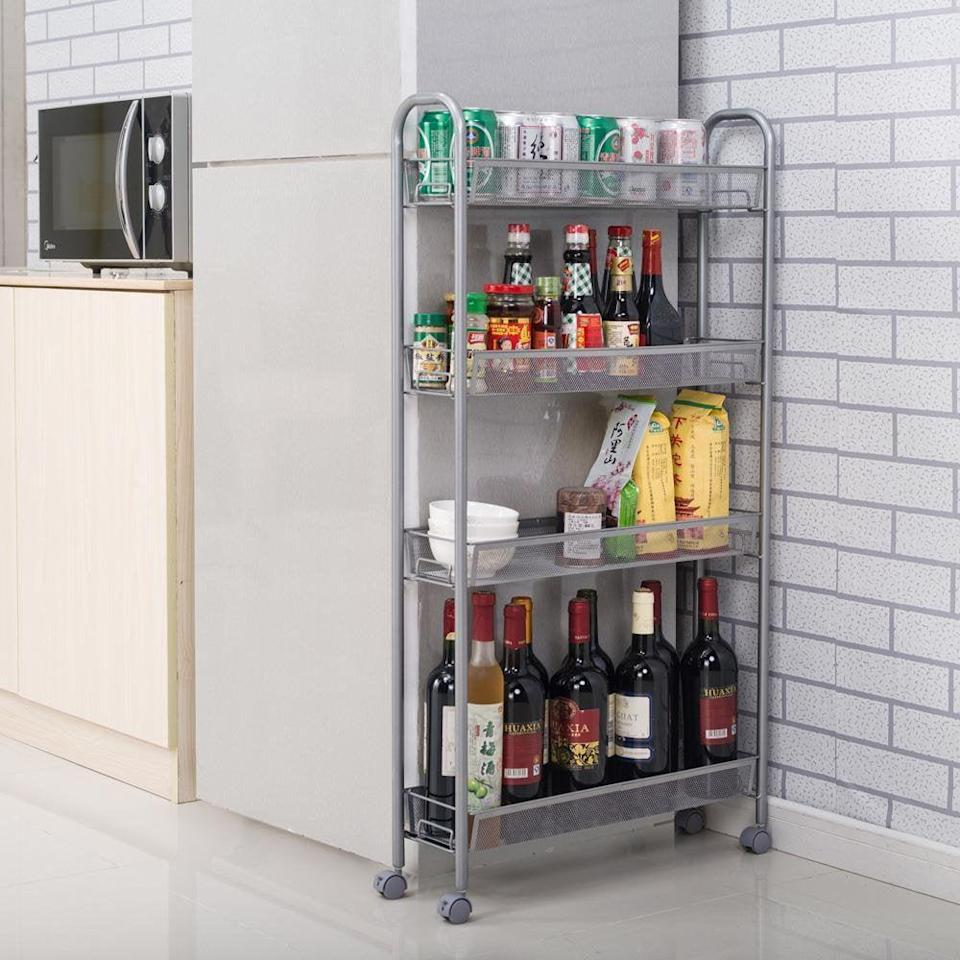 <p>Add extra storage without taking up too much room with this <span>Ktaxon 4-Tier Rolling Cart</span> ($32, originally $46).</p>