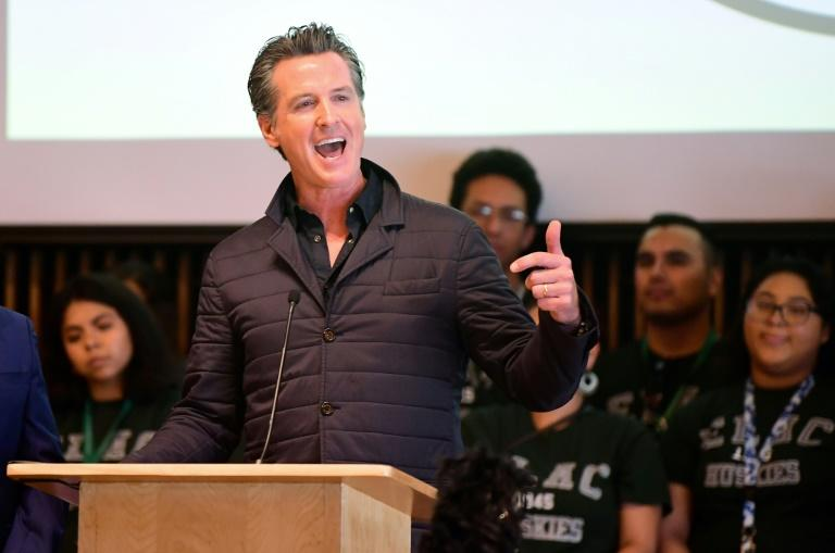 California Governor Gavin Newsom (pictured August 2019) signed a new law calling for state middle schools to ring in classes no earlier than 8:00 am and high schools no earlier than 8:30 am