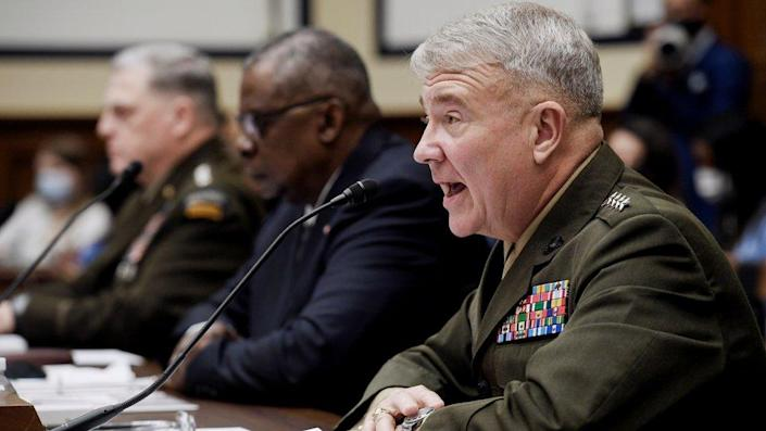 Gen McKenzie testifies before the House Armed Services Committee on the conclusion of military operations in Afghanistan