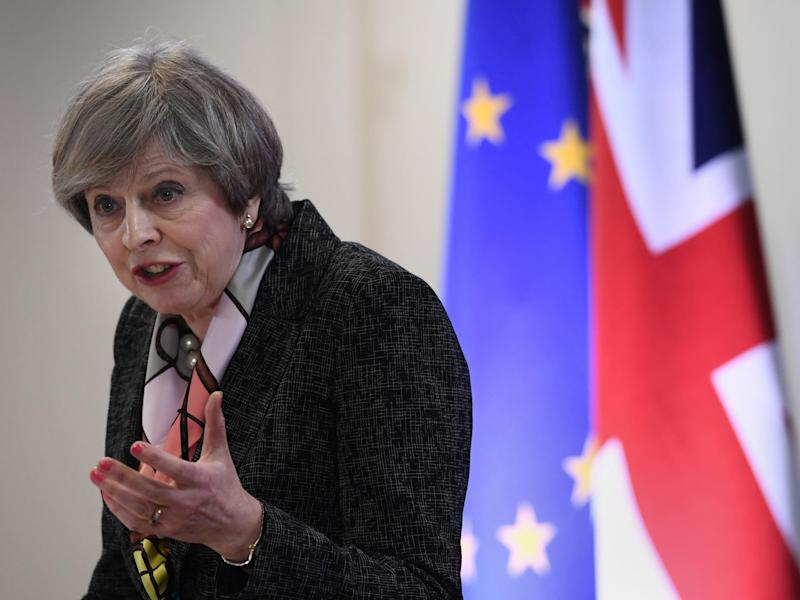 The report casts doubt on the wisdom of Theresa May's 'no deal would be better than a bad deal' mantra, saying that the alternative – reverting to WTO tariffs – could be worst of all outcomes: Getty