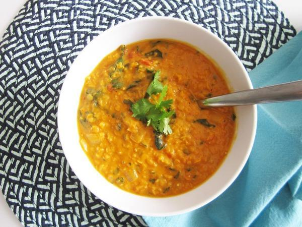 High Protein Vegetarian Meals Coconut Curry Lentil Soup