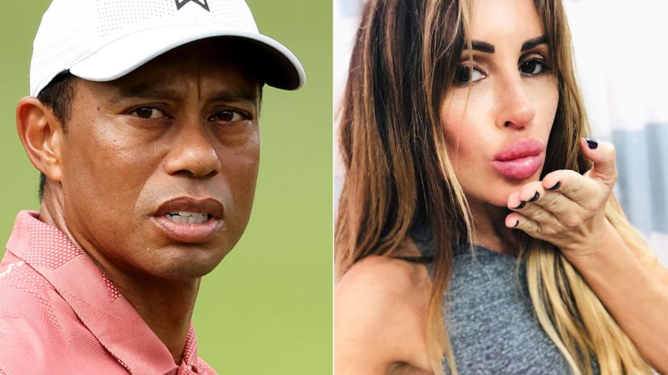 Pictured here, golfer Tiger Woods and one of the women he had an affair with, Rachel Uchitel.