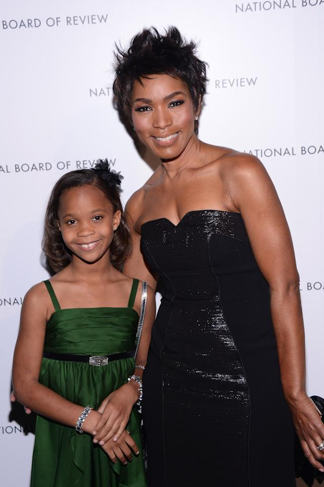 NEW YORK, NY - JANUARY 08: Actors Quvenzhane Wallis and Angela Bassett attend the 2013 National Board Of Review Awards at Cipriani 42nd Street on January 8, 2013 in New York City.  (Photo by Stephen Lovekin/Getty Images)