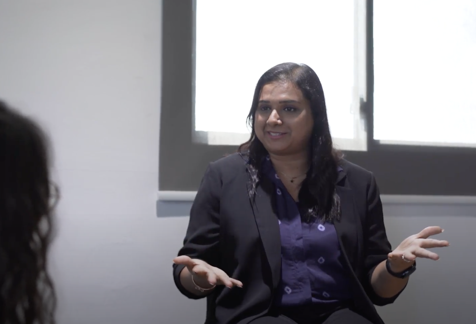 Dr Sandhya Sriram, co-founder and CEO of Shiok Meats, a firm which uses cell-based technology to produce and cultivate meat from the stem cells of live animals. (PHOTO: Yahoo Southeast Asia)