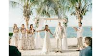 """<p><a href=""""https://www.keylargolighthouse.com"""" rel=""""nofollow noopener"""" target=""""_blank"""" data-ylk=""""slk:Key Largo Lighthouse Beach"""" class=""""link rapid-noclick-resp"""">Key Largo Lighthouse Beach</a> offers couples a customizable package that includes all the wedding events of your choosing (welcome party, rehearsal dinner, wedding, reception), and accommodations for up to 24 guests in a beach house and guest house on the property. Two venue options, Hidden Beach and Coral Beach, offer picturesque settings for exchanging vows while the sun sets behind you. Then you can dance the night away on the white-sand beaches studded with majestic palm trees.</p>"""