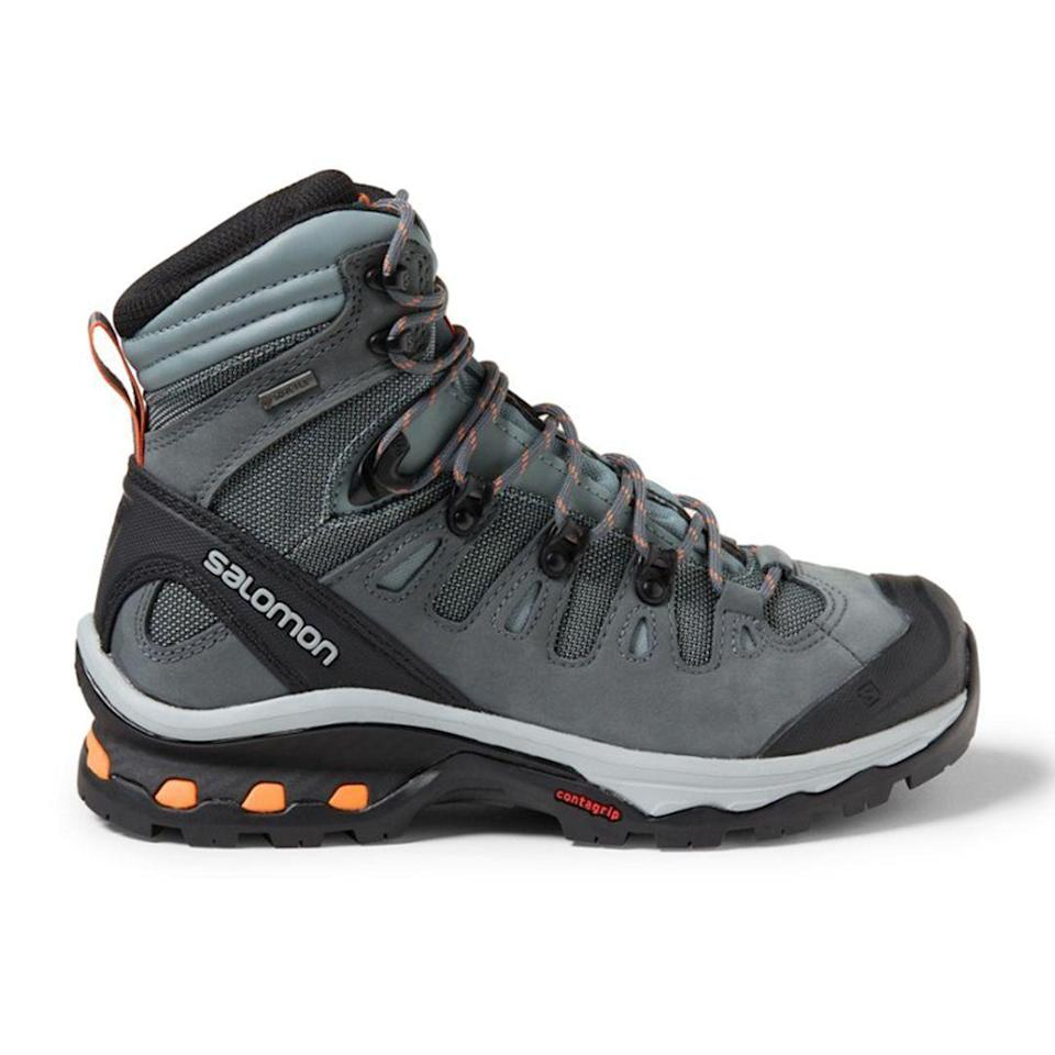 """<p><strong>Salomon</strong></p><p>rei.com</p><p><strong>$230.00</strong></p><p><a href=""""https://go.redirectingat.com?id=74968X1596630&url=https%3A%2F%2Fwww.rei.com%2Fproduct%2F127768&sref=https%3A%2F%2Fwww.thepioneerwoman.com%2Ffashion-style%2Fg32317616%2Fbest-hiking-boots-for-women%2F"""" rel=""""nofollow noopener"""" target=""""_blank"""" data-ylk=""""slk:Shop Now"""" class=""""link rapid-noclick-resp"""">Shop Now</a></p><p>A supportive over-the-ankle design and thoughtful technology makes the Quest 4D 3 GTX an obvious pick. It'll help reduce fatigue on your longest treks, making it a solid boot for backpacking as well.</p>"""