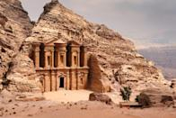 <p>This ancient city is famous for its buildings that are carved from stone. </p>