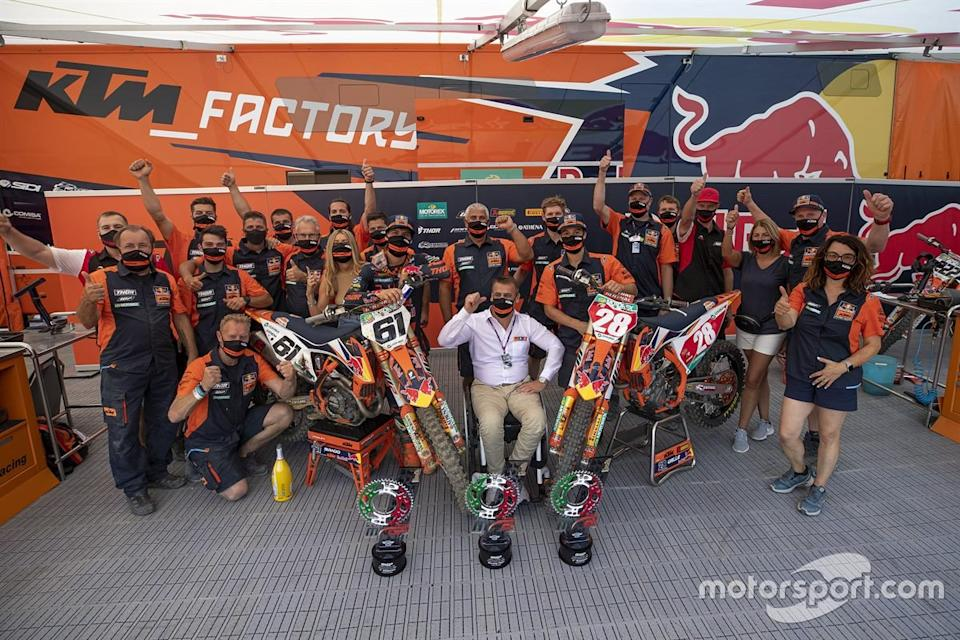 "Tom Vialle y Jorge Prado, KTM Factory Racing<span class=""copyright"">KTM </span>"