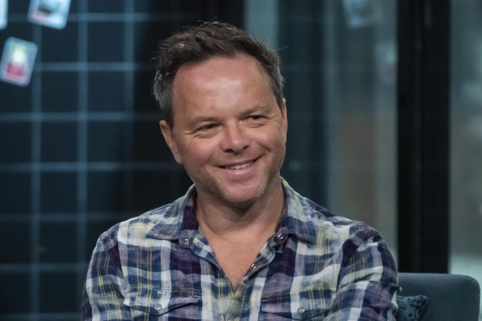 """Noah Hawley participates in the BUILD Speaker Series to discuss the film """"Lucy in th Sky"""" at BUILD Studio on Wednesday, Oct. 2, 2019, in New York. (Photo by Charles Sykes/Invision/AP)"""