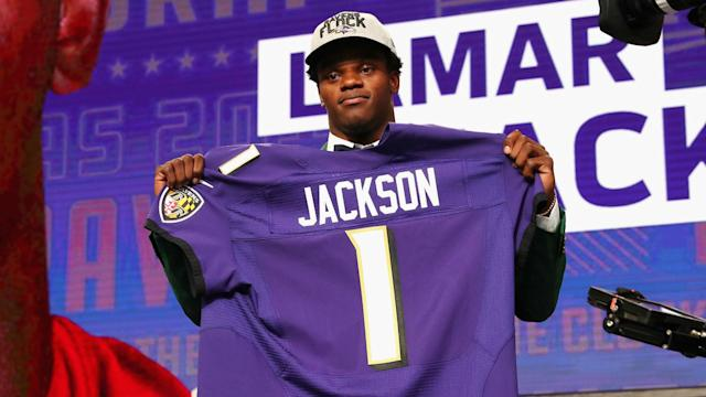 Jackson, who won the Heisman Trophy in 2016, was selected No. 32 overall by the Ravens in the 2018 NFL Draft.