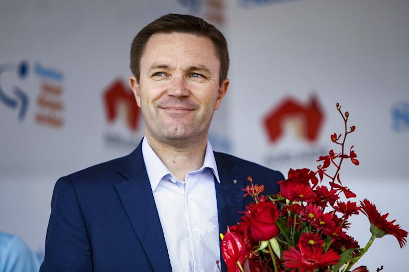 UCI president David Lappartient attended the 2020 Tour Down Under in Adelaide, Australia
