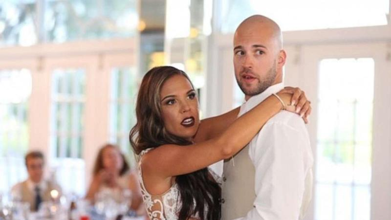 Here's the moment a 'first dance' was interrupted by a wedding crasher
