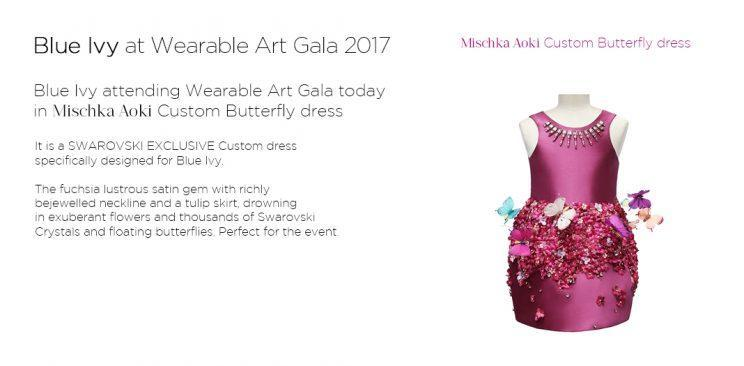 The custom butterfly dress and its description