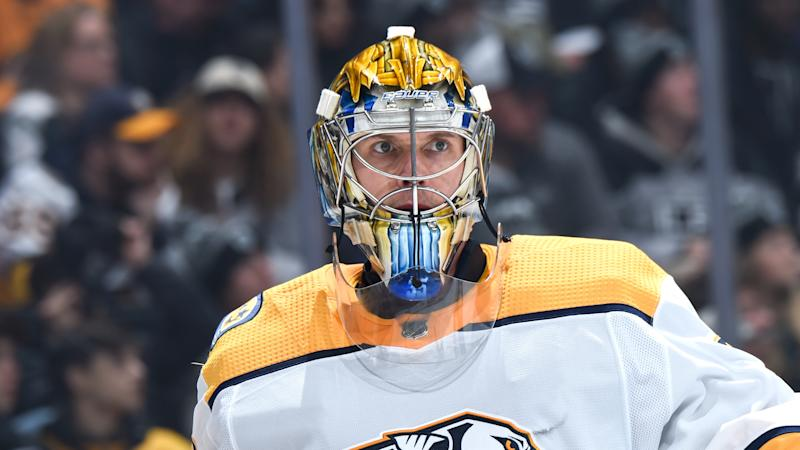 Rinne scores first National Hockey League goal in 5-2 win against Chicago