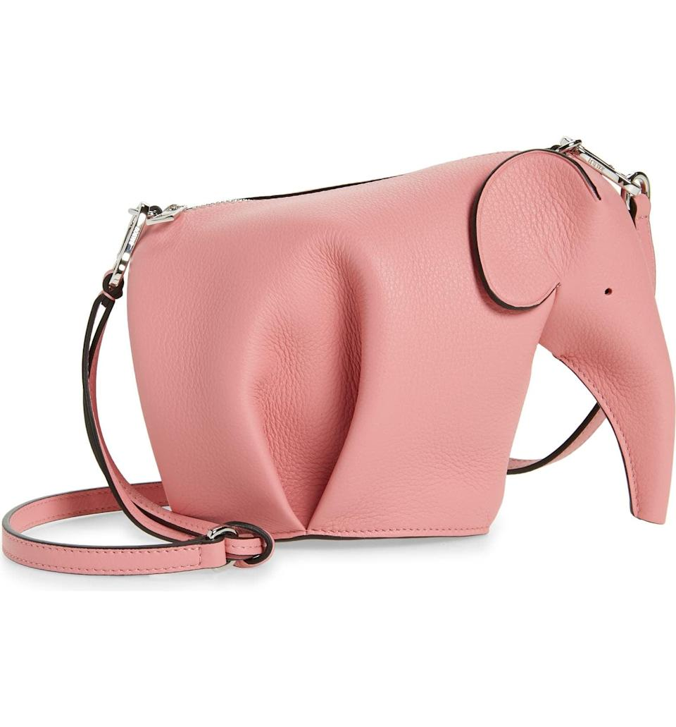 <p>This <span>Loewe Mini Elephant Leather Crossbody Bag</span> ($1,450) is cute as can be and so unique. You'll reach for it all the time.</p>