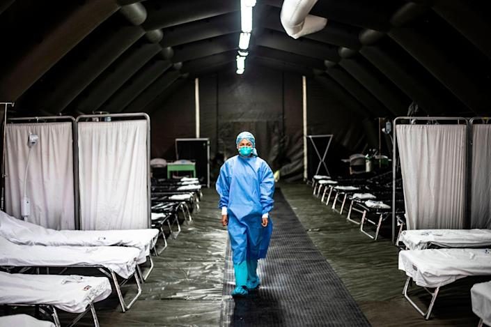The Covid-19 death toll is calculated to have exceeded one million (AFP via Getty Images)