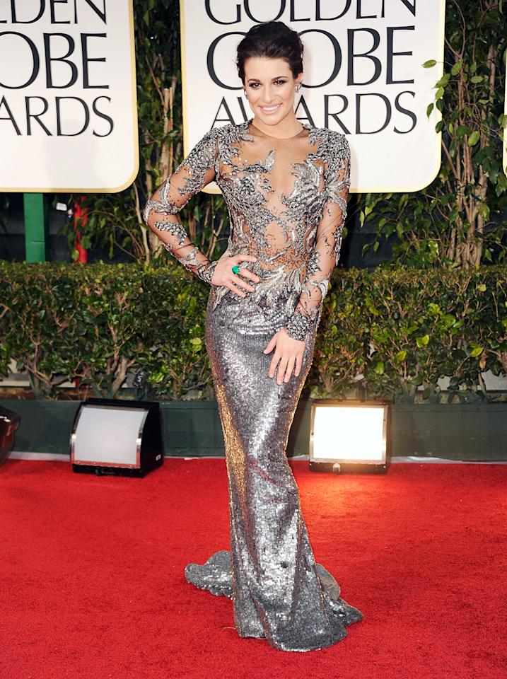 """Glee"" Golden Globe favorite Lea Michele wore this number to the 2012 Golden Globe Awards."