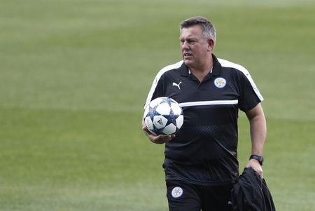 Football Soccer - Leicester City Training - Vicente Calderon Stadium, Madrid, Spain - 11/4/17 Leicester City manager Craig Shakespeare during training Action Images via Reuters / Carl Recine Livepic
