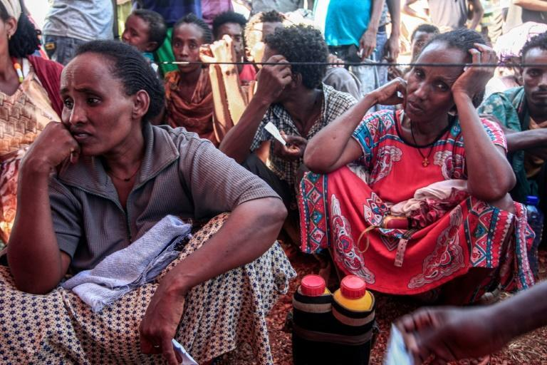 Refugees are being sheltered at Um Rakuba, 80 kilometres (50 miles) from Sudan's border with Ethiopia. The camp once housed refugees from Ethiopia's 1983-85 famine