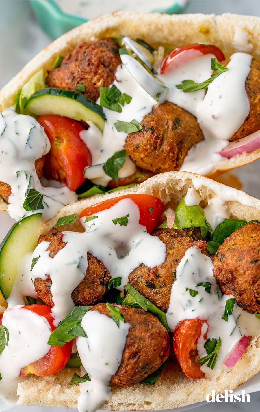 "<p>We swear they're easy to make! </p><p>Get the recipe from <a href=""https://www.delish.com/cooking/recipe-ideas/recipes/a54231/easy-homemade-falafel-recipe/"" rel=""nofollow noopener"" target=""_blank"" data-ylk=""slk:Delish."" class=""link rapid-noclick-resp"">Delish.</a></p>"