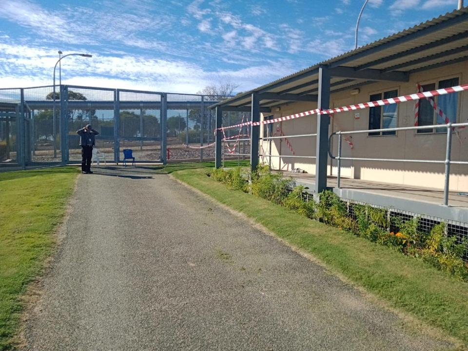 A 20-metre escape tunnel has been discovered beneath an accommodation block in the Falcon compound (pictured) at Yongah Hill immigration detention centre in Western Australia (Refugee Action Coalition (RAC))
