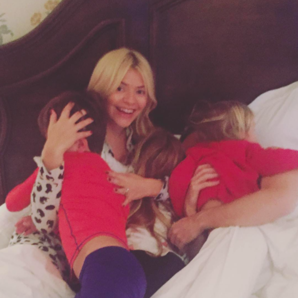 Holly Willoughby annoys neighbours by flying Union Jack flag over home
