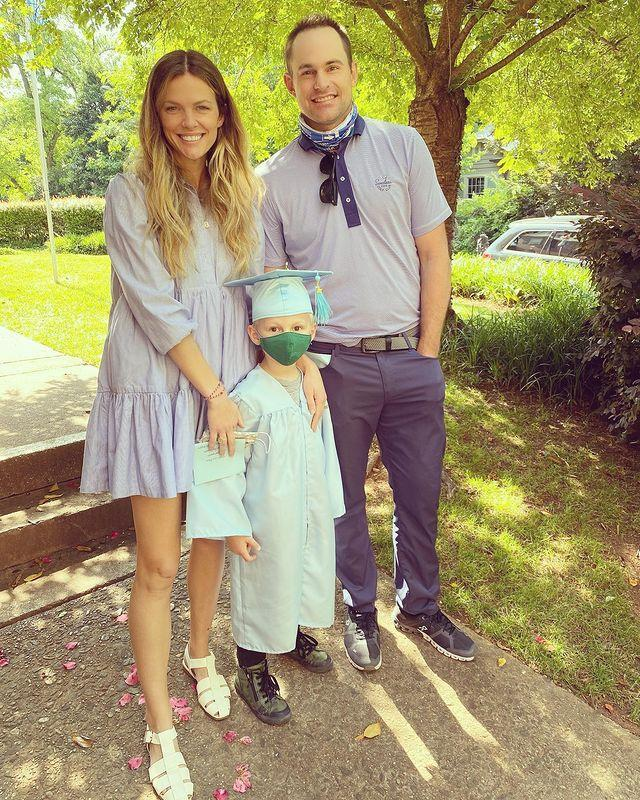 """<p>He may not be college-bound <em>yet,</em> but the supermodel and her tennis star husband were still proud to share son Hank's graduation photo in mid-May.</p> <p>""""I rarely share family stuff because I don't know... I make weird choices,"""" Decker joked, """"but oh my goodness we have a preschool graduate. 😭""""</p>"""