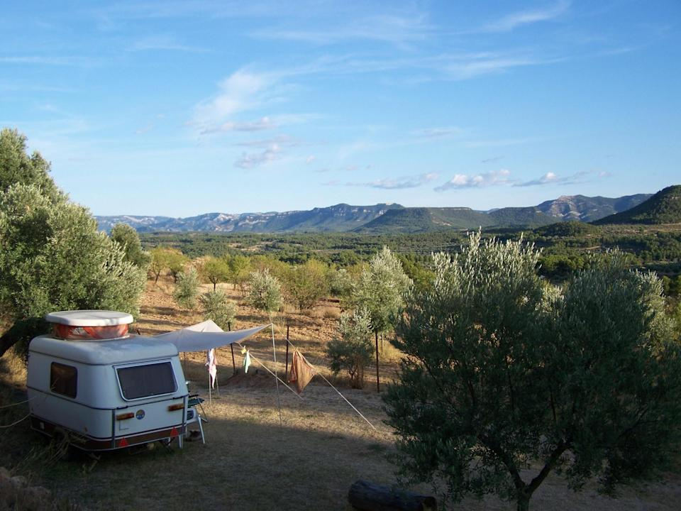 """<p><span>Famed for its excellent restaurant and incredible views, </span><a href=""""https://coolcamping.com/campsites/europe/spain/aragon/teruel/774-la-fresneda"""" rel=""""nofollow noopener"""" target=""""_blank"""" data-ylk=""""slk:this small-scale campsite in northeast Spain"""" class=""""link rapid-noclick-resp""""><span>this small-scale campsite in northeast Spain</span></a><span> features natural rock pools to swim in and bike and horse riding opportunities in the mountains. Book early enough to reserve one of the 25 camping pitches. A tent and two people from €25 (£21). [Photo: Cool Camping]</span> </p>"""