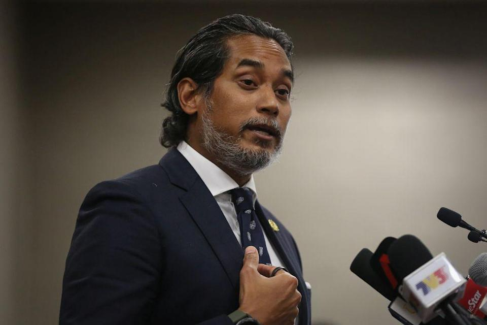 Science, Technology and Innovation Minister Khairy Jamaluddin also stressed that any disruption to the implementation of the programme could see the extension of the various phases of MCO nationwide and undermine efforts to revitalise the economy. — Picture by Yusof Mat Isa