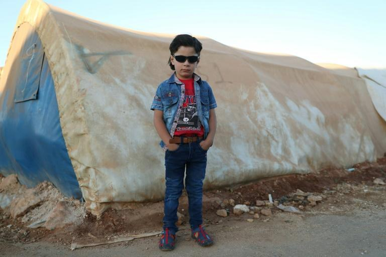 A child at a camp for internally displaced people in Syria