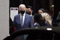 President Joe Biden and first lady Jill Biden leave Walter Reed National Military Medical Center in Bethesda, Md., Thursday, Sept. 2, 2021, after visiting with injured troops. (AP Photo/Susan Walsh)
