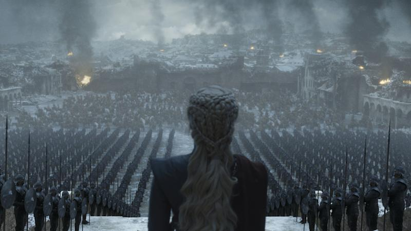 Daenerys surveys the wreckage of King's Landing in the 'Game of Thrones' series finale (Photo: HBO)