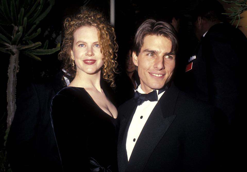 Actress Nicole Kidman and actor Tom Cruise attend the 63rd Annual Academy Awards After Party Hosted by Irving 'Swifty' Lazar on March 25, 1991 at Spago in West Hollywood, California. (Photo by Ron Galella, Ltd./WireImage)