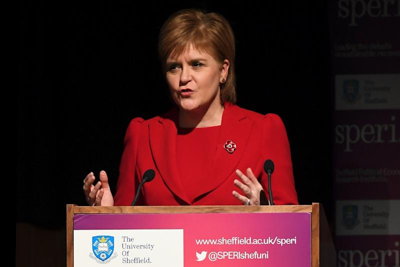 """Nicola Sturgeon has said she would prefer Scotland to be """"an independent state within the EU"""" (AFP Photo/Paul ELLIS)"""