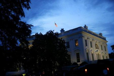 FILE PHOTO: The White House in the evening, in Washington, U.S., May 22, 2018. REUTERS/Al Drago