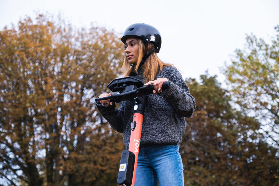 Installed on its e-scooters, Voi is testing Luna's technology to help avoid collisions with pedestrians.