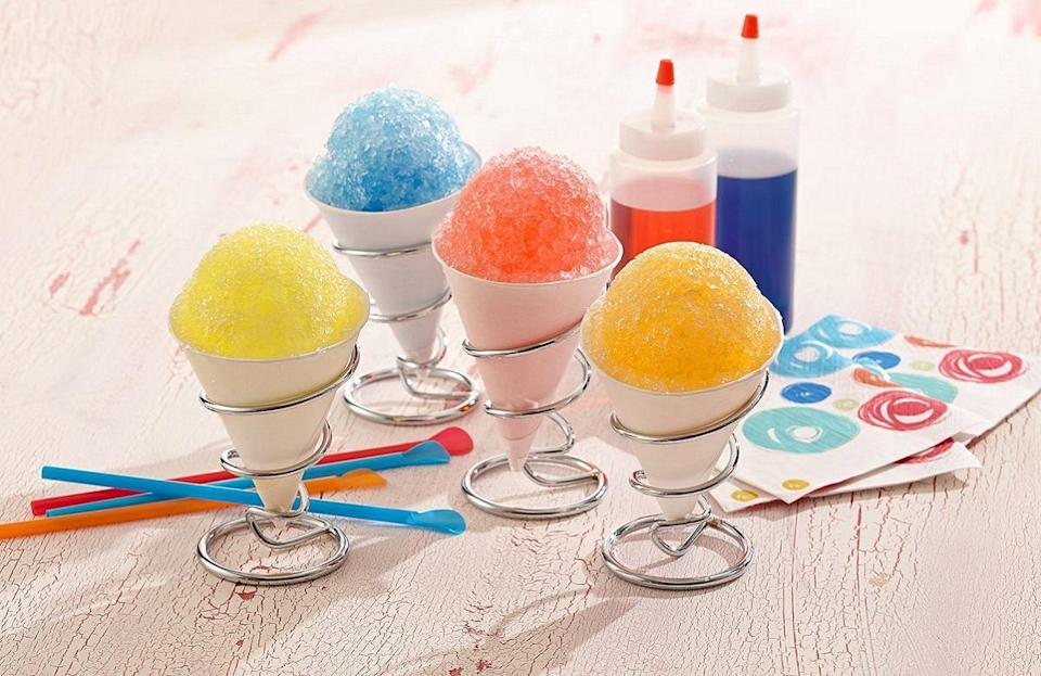 "<p>To beat the Hawaiian heat, shave ice is the way to go. The Aloha State's most iconic dessert is made by shaving a block of ice and topping it with refreshing syrups in flavors like strawberry or orange. Add it to your list of <a href=""https://www.thedailymeal.com/eat/best-regional-desserts-america?referrer=yahoo&category=beauty_food&include_utm=1&utm_medium=referral&utm_source=yahoo&utm_campaign=feed"" rel=""nofollow noopener"" target=""_blank"" data-ylk=""slk:regional desserts that you need to try"" class=""link rapid-noclick-resp"">regional desserts that you need to try</a>.</p> <p><a href=""http://thedailymeal.com/best-recipes/shaved-ice?referrer=yahoo&category=beauty_food&include_utm=1&utm_medium=referral&utm_source=yahoo&utm_campaign=feed"" rel=""nofollow noopener"" target=""_blank"" data-ylk=""slk:For the Easy Crushed Orange Shaved Ice recipe, click here"" class=""link rapid-noclick-resp"">For the Easy Crushed Orange Shaved Ice recipe, click here</a>.</p>"