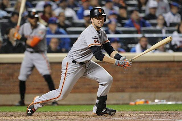 """<a class=""""link rapid-noclick-resp"""" href=""""/mlb/players/8578/"""" data-ylk=""""slk:Buster Posey"""">Buster Posey</a> or Gary Sanchez, who do you got? (Getty Images)"""
