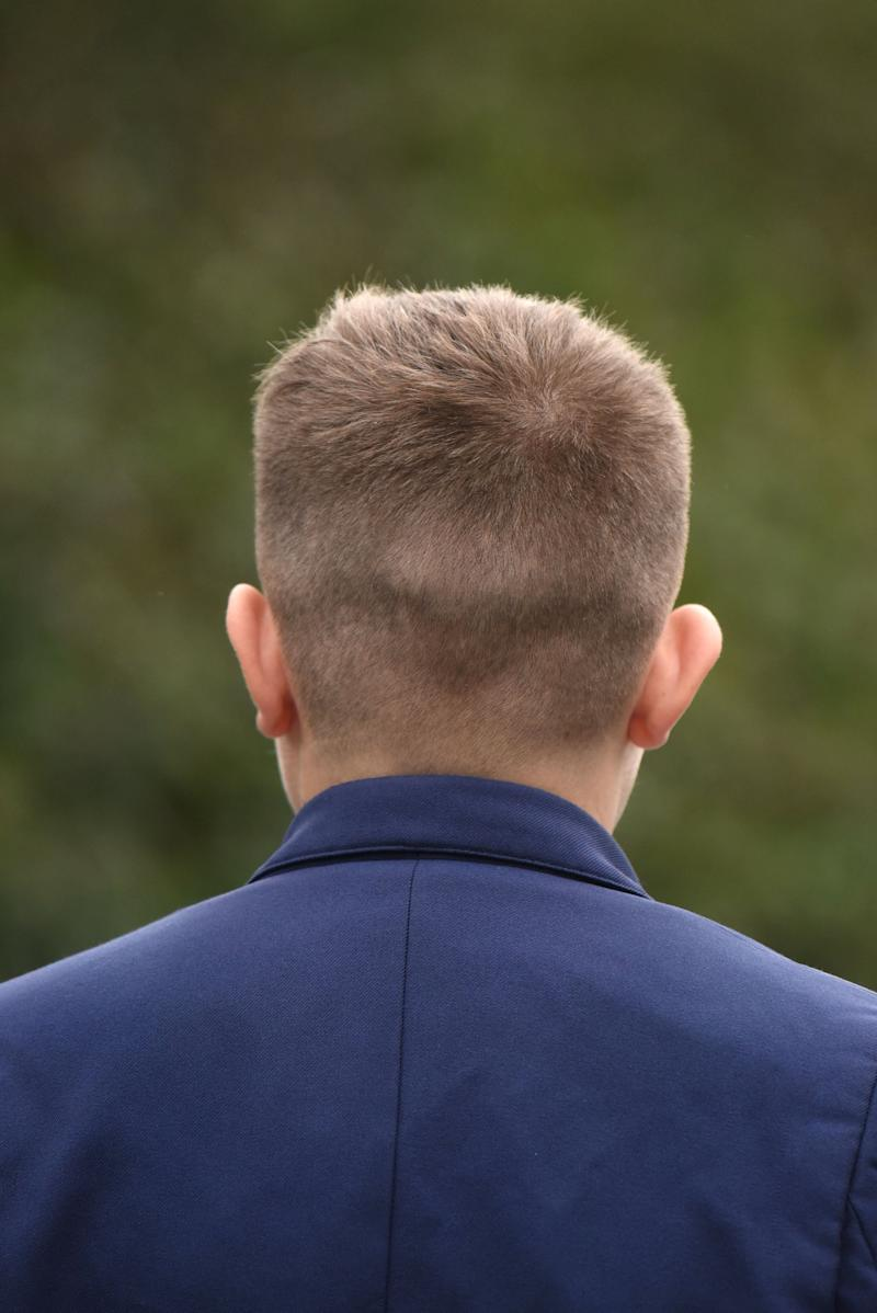 "Jason's mum claims her son's short hair looks ""smart"". [Photo: SWNS]"