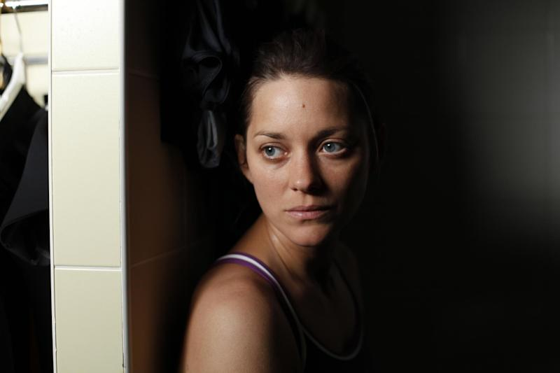 """This film image released by Sony Pictures Classics shows Marion Cotillard in a scene from """"Rust and Bone."""" (AP Photo/Sony Pictures Classics)"""