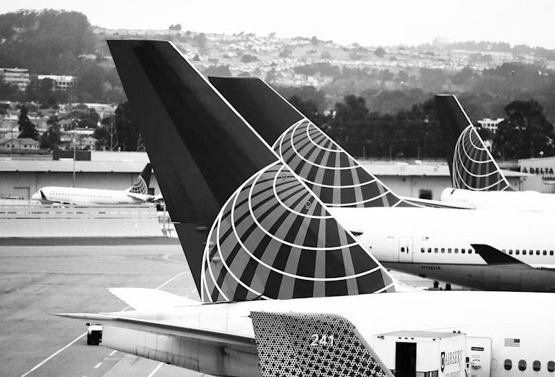 SAN FRANCISCO, CA - JULY 08: United Airlines planes sit on the tarmac at San Francisco International Airport on July 8, 2015 in San Francisco, California. Thousands of United Airlines passengers around the world were grounded Wednesday due to a computer glitch. An estimated 3,500 were affected. (Photo by Justin Sullivan/Getty Images)