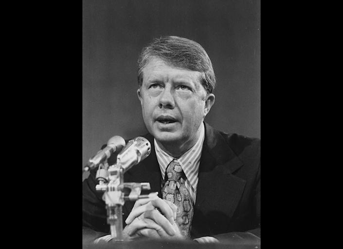 President Jimmy Carter, shown here in 1971, reported that he saw a UFO above Leary, Ga., in 1969. He filed a report about the sighting to the International UFO Bureau in 1973.