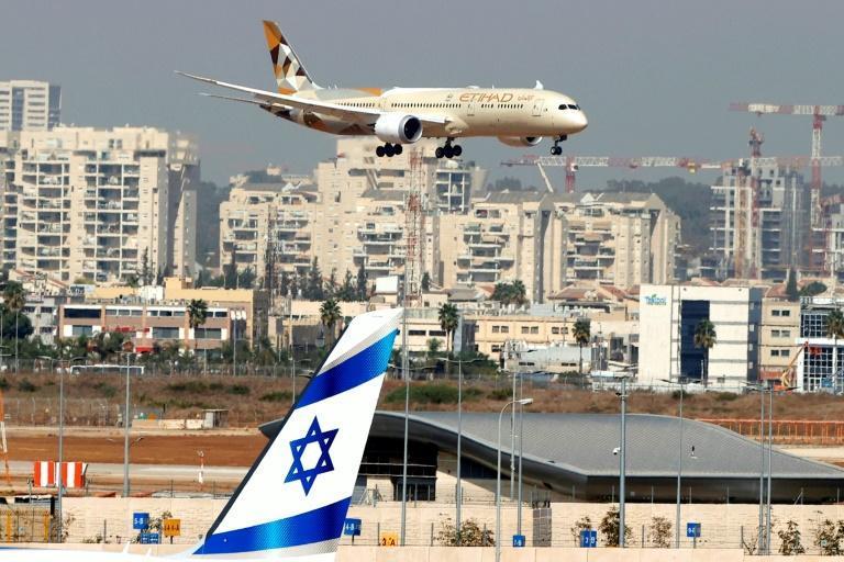 A high-ranking United Arab Emirates delegation lands at Ben Gurion airport on the country's first ever official visit to Israel