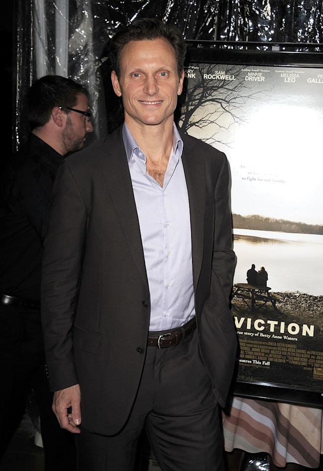 """<a href=""""http://movies.yahoo.com/movie/contributor/1800020040"""">Tony Goldwyn</a> at the Los Angeles premiere of <a href=""""http://movies.yahoo.com/movie/1810071450/info"""">Conviction</a> on October 5, 2010."""