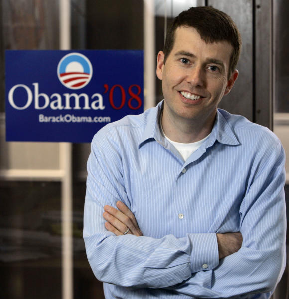 FILE - This May 10, 2007, file photo shows David Plouffe, who led President Barack Obama's winning campaign in the 2008 presidential race, in Obama's Chicago campaign headquarters. Obama veterans are building a wide network of deep-pocketed groups and consulting firms independent of government, the Democratic Party and traditional liberal groups, a sweeping _ if not unprecedented _ effort outside the White House gates aimed at promoting the president's agenda and shaping his legacy. (AP Photo/Charles Rex Arbogast, File)