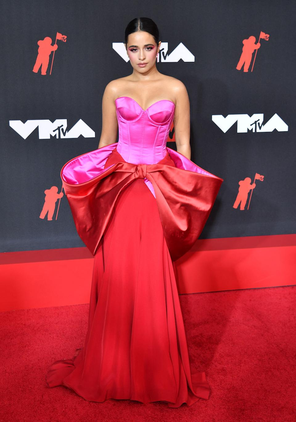 Camila Cabello arrives for the 2021 MTV Video Music Awards