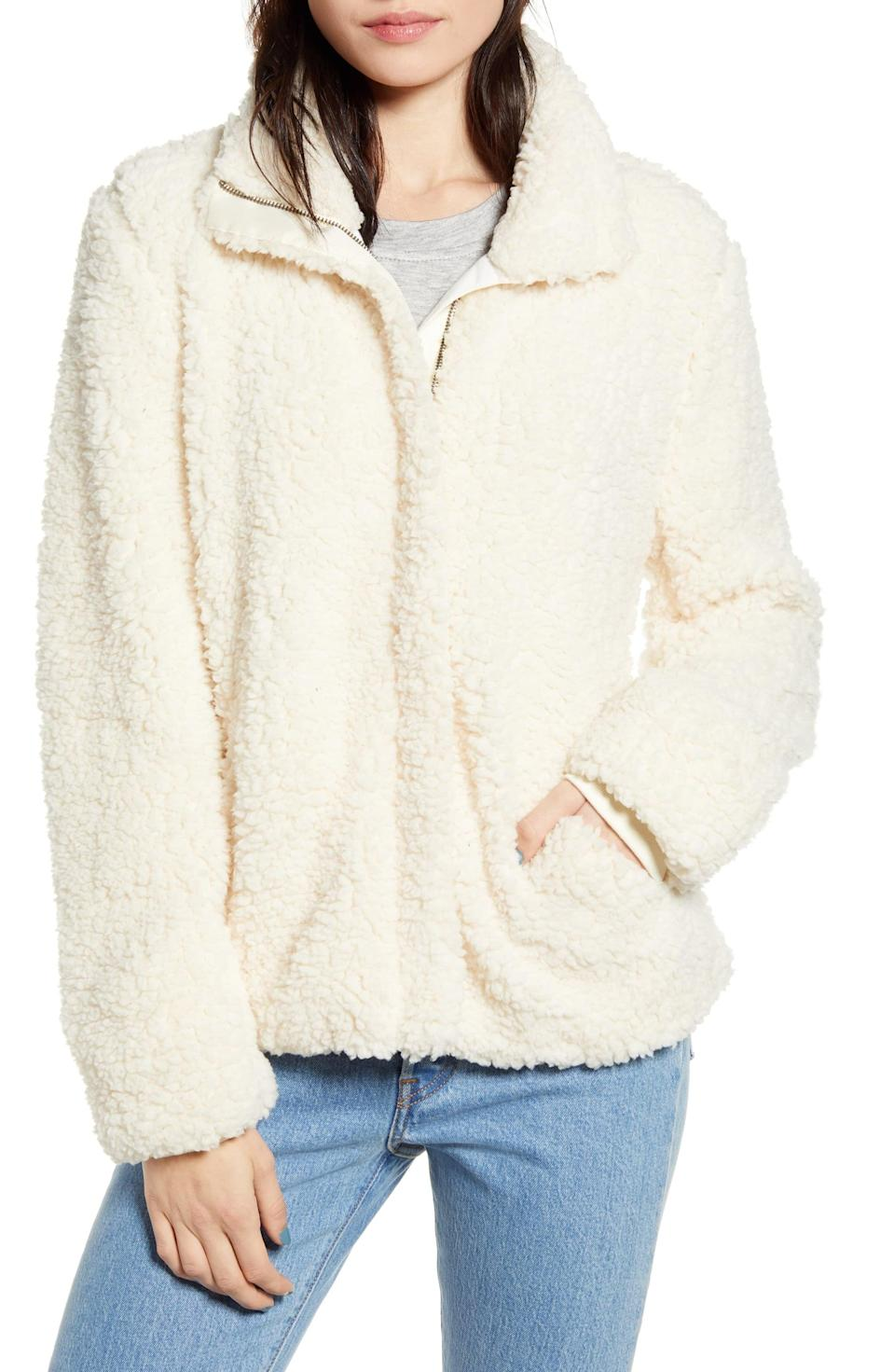 <p>Weekends just got even cozier, thanks to this <span>Thread and Supply Wubby Zip Jacket</span> ($22, originally $88).</p>