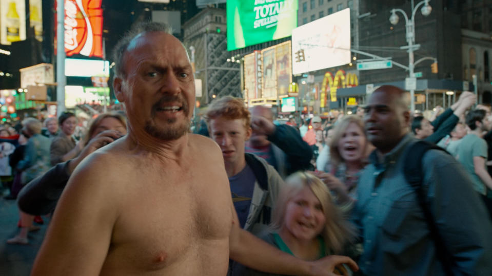'Birdman' was constructed to appear as a single take. (Credit: Fox)