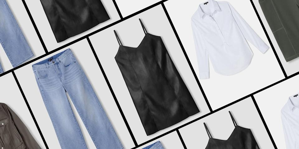 """<p class=""""body-dropcap"""">At most brands, """"sample sales"""" mean sprawling lines without nearly enough samples to go around. So let me go ahead and start off by saying that Universal Standard isn't most brands, and its <a href=""""https://go.redirectingat.com?id=74968X1596630&url=https%3A%2F%2Fwww.universalstandard.com%2Fcollections%2Fall-sample-sale&sref=https%3A%2F%2Fwww.cosmopolitan.com%2Fstyle-beauty%2Ffashion%2Fg37172462%2Funiversal-standard-sample-sale%2F"""" rel=""""nofollow noopener"""" target=""""_blank"""" data-ylk=""""slk:annual sample sale"""" class=""""link rapid-noclick-resp"""">annual sample sale</a> runs a little differently. (And when I say that I mean, it's <em>better</em>). It's entirely online—saving you from any IRL mayhem—<em>and</em> it has hundreds of closet staples in stock<strong>, </strong>all in inclusive sizes. I call that a win-win, baby.</p><p>The expansive brand carries sizes 00 to 40 in Every. Freakin'. Style. I'm talkin' vegan leather slip dresses, straight-leg jeans, classic trench jackets, and so much more. Even if you already own similar basics, you'll want Universal Standard's takes on the traditional, basic pieces. Each apparel item includes thoughtful details like hidden buttons and subtle stretch fabric for the perfect fit, which is one of the reasons why the store stands out so much.</p><p>Keep in mind though that the campaign only runs until August 2! To give you a head start (and to make shopping the sale a lil more seamless for ya), we narrowed down the size-inclusive essentials that deserve your instant """"add to cart."""" </p>"""